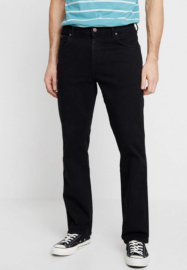 Wrangler - TEXAS STRETCH - Jeansy Straight Leg - black overdye