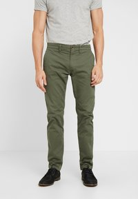 TOM TAILOR - Chinos - dark thyme green - 0
