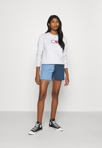 Tommy Jeans - TIMELESS FLAG - Sweatshirt - silver grey - 1