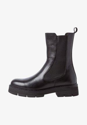 CHELSEA  - Platform ankle boots - black antic