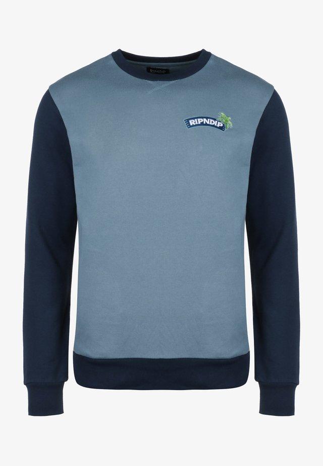 Sweater - tan/navy