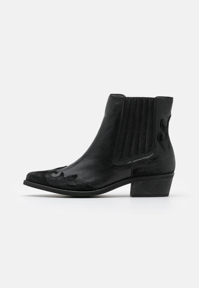 BIADELORA WESTERN CHELSEA BOOT - Cowboystøvletter - black