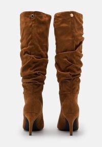 Steve Madden - VLOUCH - High heeled boots - cognac - 3