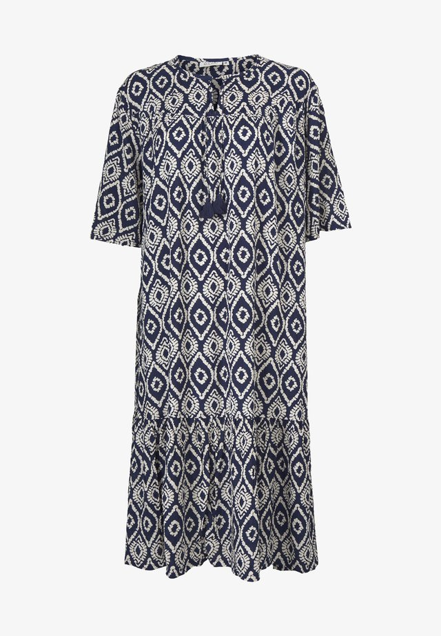 Korte jurk - medieval blue