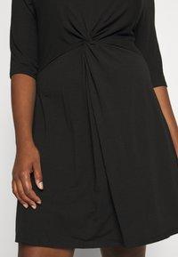 CAPSULE by Simply Be - TWIST FRONT SWING DRESS - Žerzejové šaty - black - 6