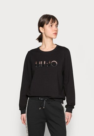 FELPA CHIUSA - Sweater - nero liujo sequins