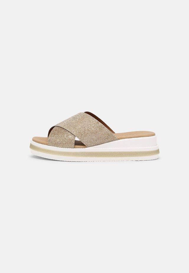 Sandaler - glitter silver