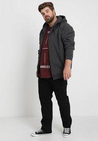 Urban Classics - ZIP HOODY - Zip-up hoodie - charcoal - 1