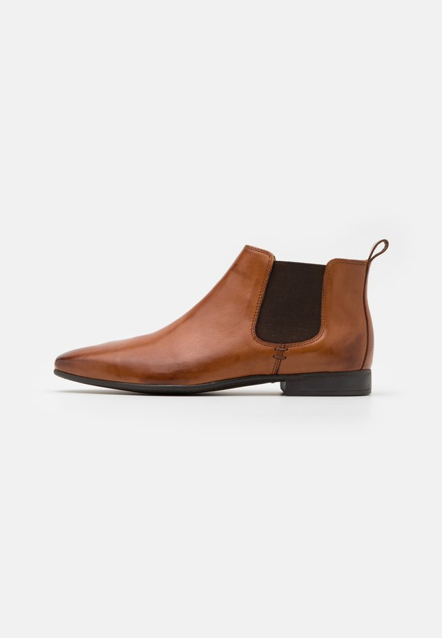 LEATHER - Bottines - cognac