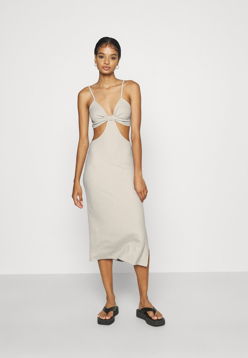 Nly by Nelly - CUT OUT MIDI DRESS - Day dress - creme