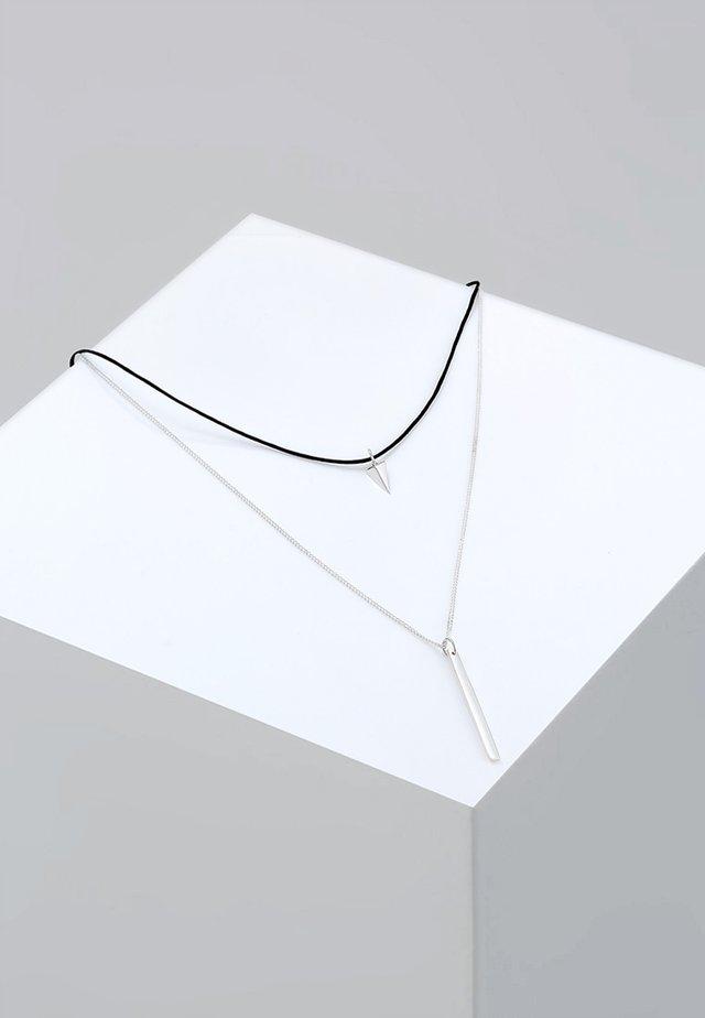 CHOKER - Collier - silver-coloured/black