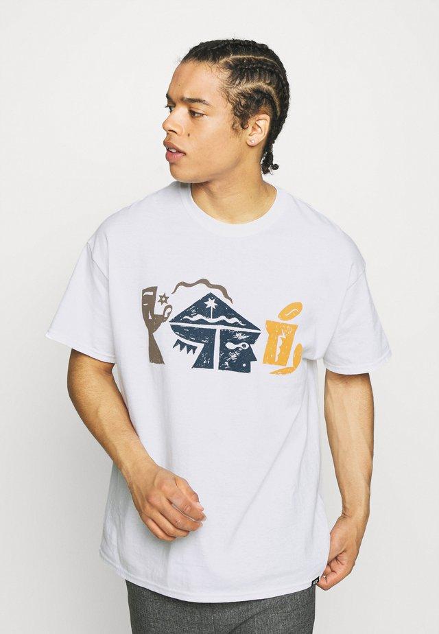 CRYPTOGRAMS GRAPHIC - T-shirt z nadrukiem - white