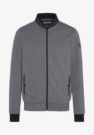 MIT EINER LEICHTEN STRUKTUR - Zip-up hoodie - grau