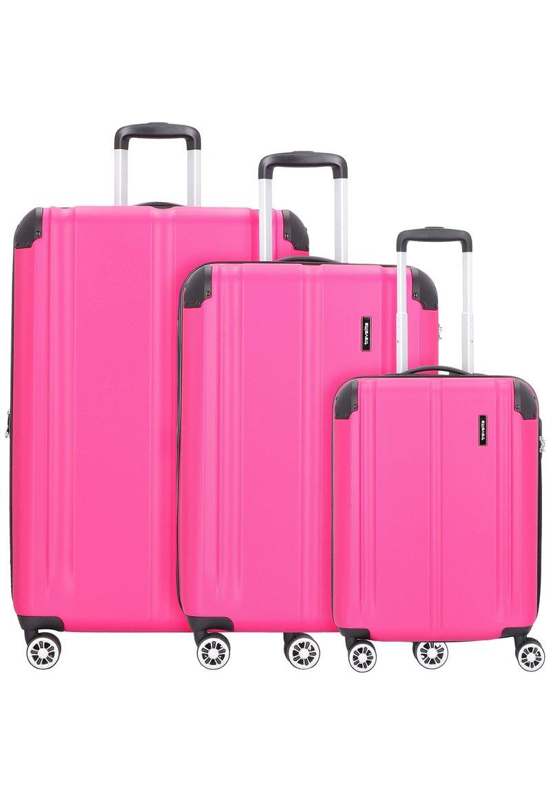 Travelite - CITY 4-ROLLEN KOFFERSET 3TLG. - Luggage set - beere