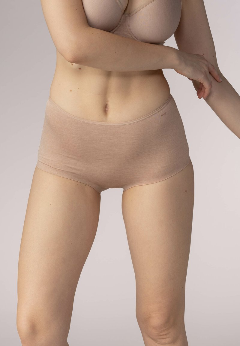 Mey - SERIE EASY COTTON - Pants - cream tan melange