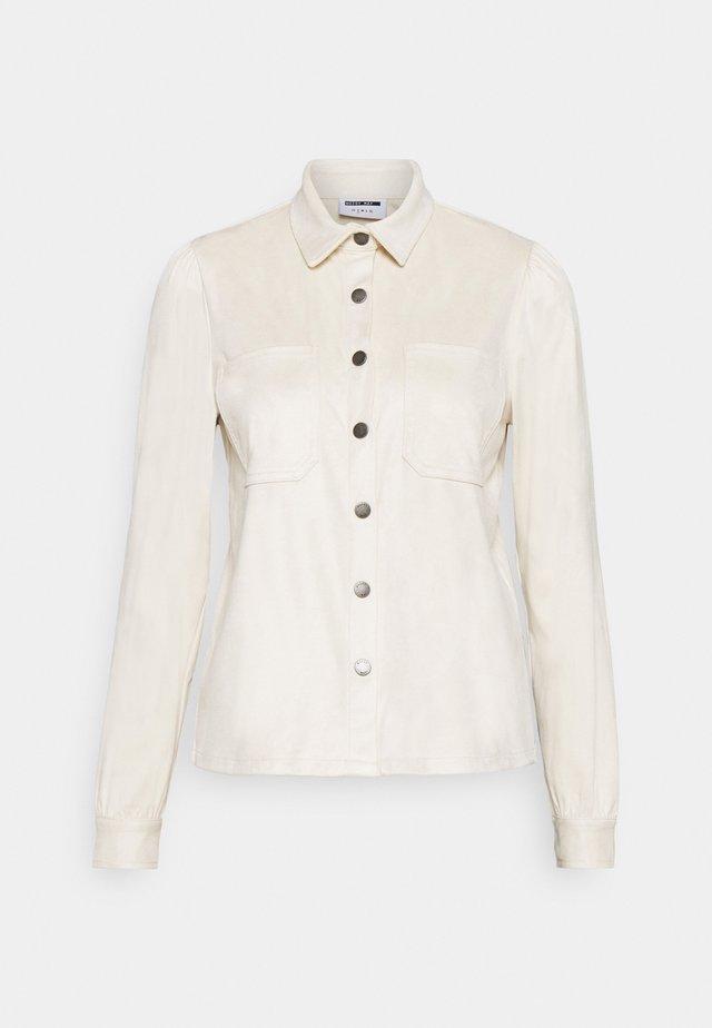 NMHALO HILL - Button-down blouse - eggnog
