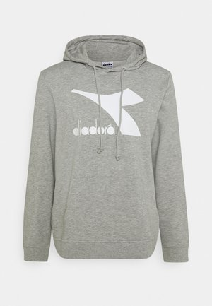 HOODIE LOGO CHROMIA - Huppari - light middle grey melange