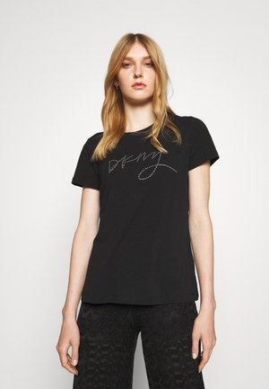 SCRIPT LOGO - Print T-shirt - black