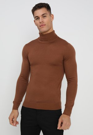 KONRAD ROLL NECK - Jumper - cappucino