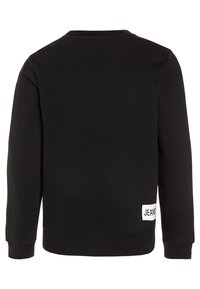 Calvin Klein Jeans - LOGO BRUSHED CREW NECK - Sweatshirt - black - 1