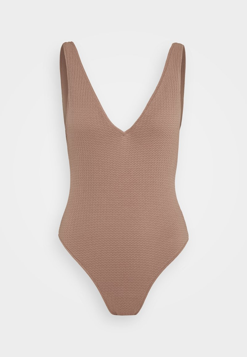 Seafolly - SEA DIVE DEEP VNECK MAILLOT - Swimsuit - bronze