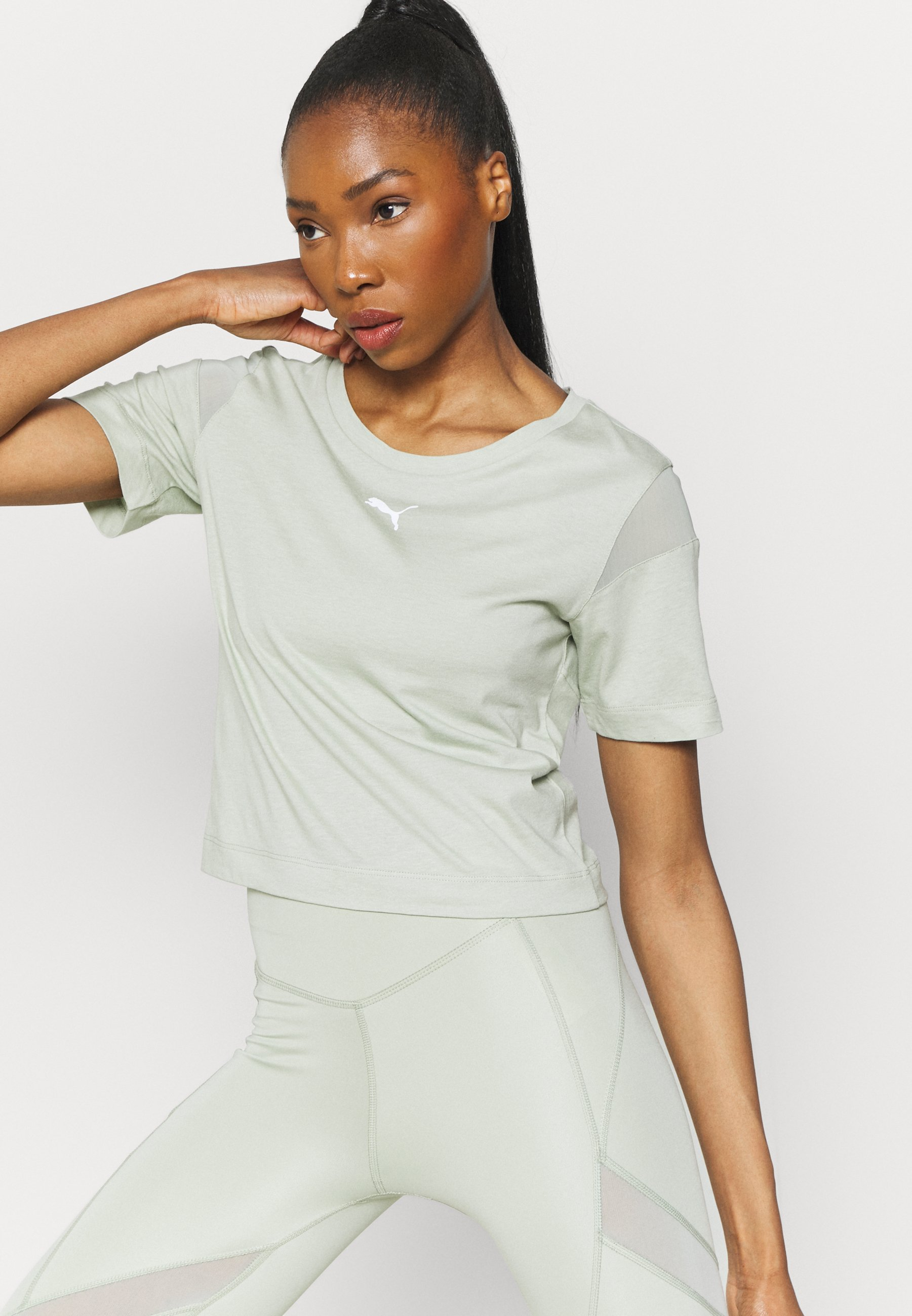 Women PAMELA REIF X PUM TEE BACK CUTOUT - Print T-shirt