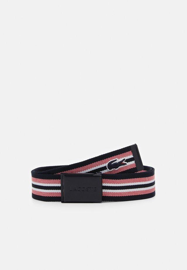 Belt - marine/groseille/farine