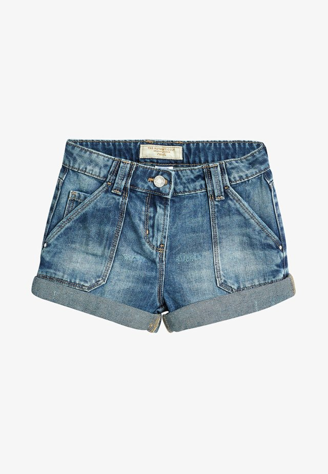 TURN-UP - Short en jean - blue