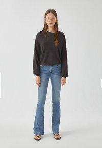 PULL&BEAR - Long sleeved top - dark grey - 1