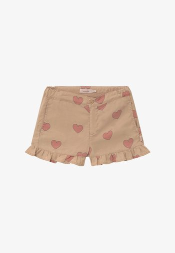 HEARTS - Shorts - nude/red