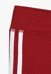 adidas Performance - TRAINING EQUIPMENT STREIFEN UNISEX - Leggings - maroon/white - 2