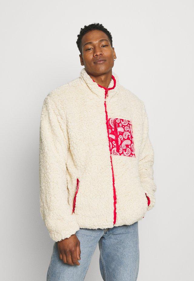 NANASH - Zip-up sweatshirt - cream