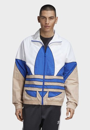 BIG TREFOIL WOVEN TRACK TOP - Training jacket - white