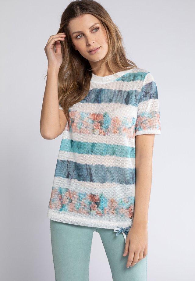 T-shirt med print - helles smaragd