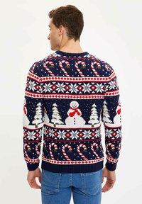 DeFacto - CHRISTMAS - Stickad tröja - navy - 2