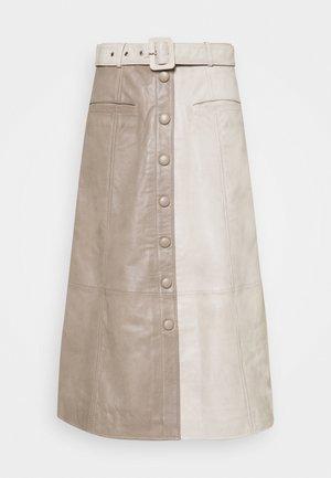 ROXANNE SKIRT - Spódnica trapezowa - beige