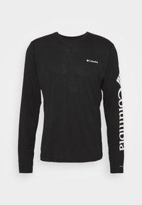 Columbia - MILLER VALLEY LONG SLEEVE GRAPHIC TEE - Funkční triko - black/white - 4