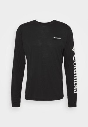 MILLER VALLEY LONG SLEEVE GRAPHIC TEE - Koszulka sportowa - black/white