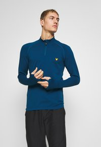 Lyle & Scott - PERFORMANCE SEAMLESS MIDLAYER - Sports shirt - deep fjord marl - 0