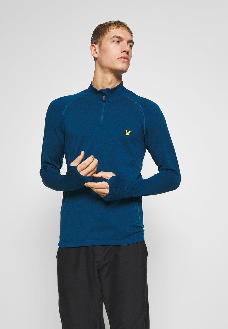 Lyle & Scott - PERFORMANCE SEAMLESS MIDLAYER - Sports shirt - deep fjord marl