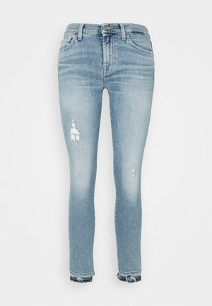 THE SKINNY CROP LUXE VINTAGE SKYWALK DISTRESSED - Skinny džíny - light blue