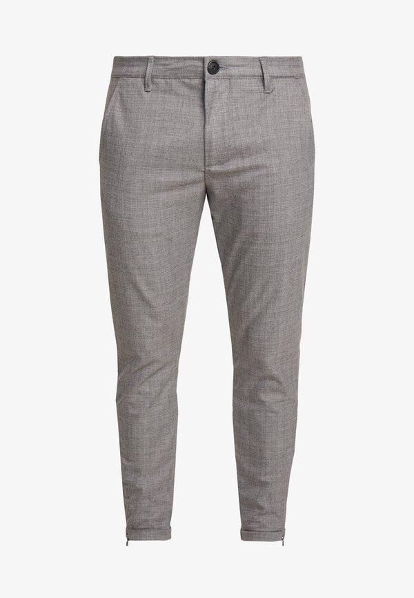 Gabba PISA CROSS - Spodnie materiałowe - light grey/jasnoszary Odzież Męska WNKX