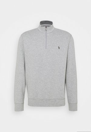 JERSEY QUARTER-ZIP PULLOVER - Sweater - andover heather