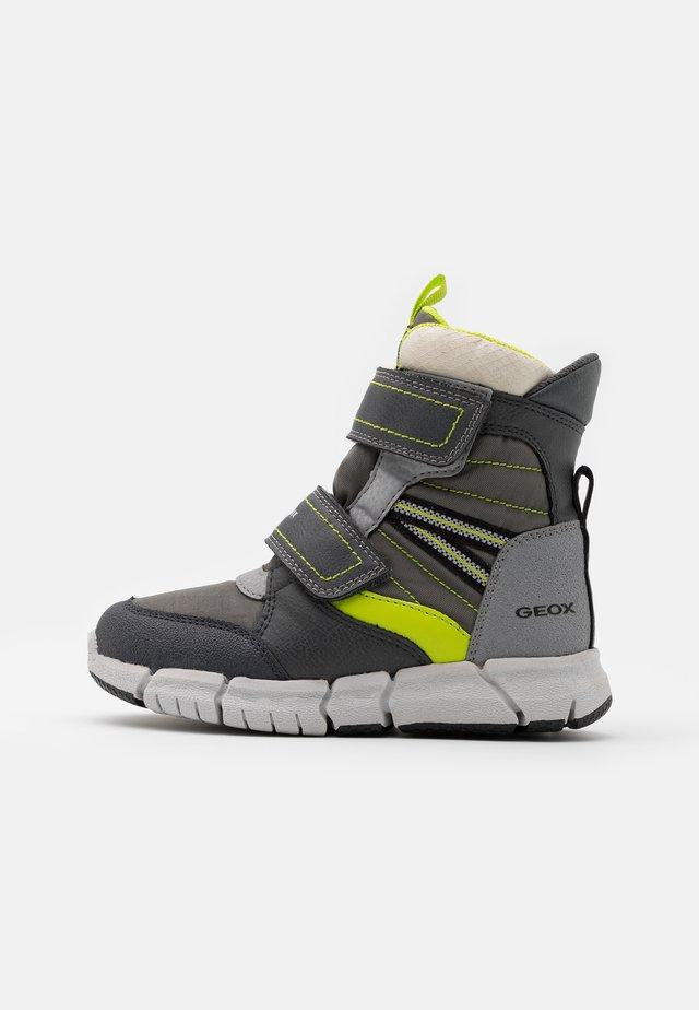 FLEXYPER BOY  - Winter boots - grey/lime