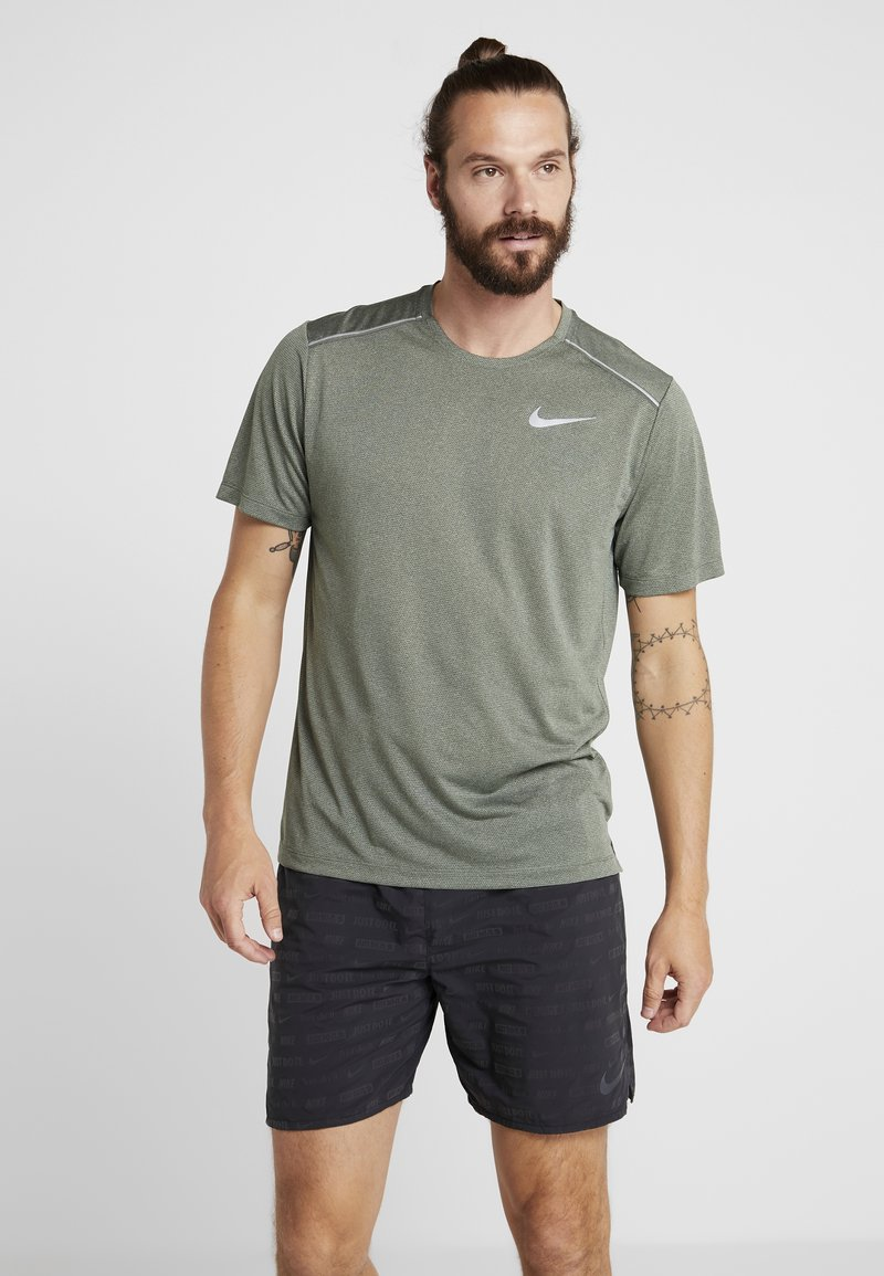 Nike Performance - DRY COOL MILER - T-paita - juniper fog/heather/jade horizon/reflective silver
