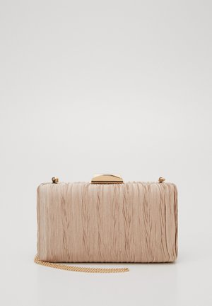 GISELLE GATHERED DETAIL HARDCASE - Clutch - bronze