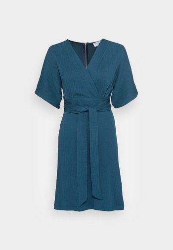 CLOSET WRAP KIMONO DRESS - Cocktailklänning - teal