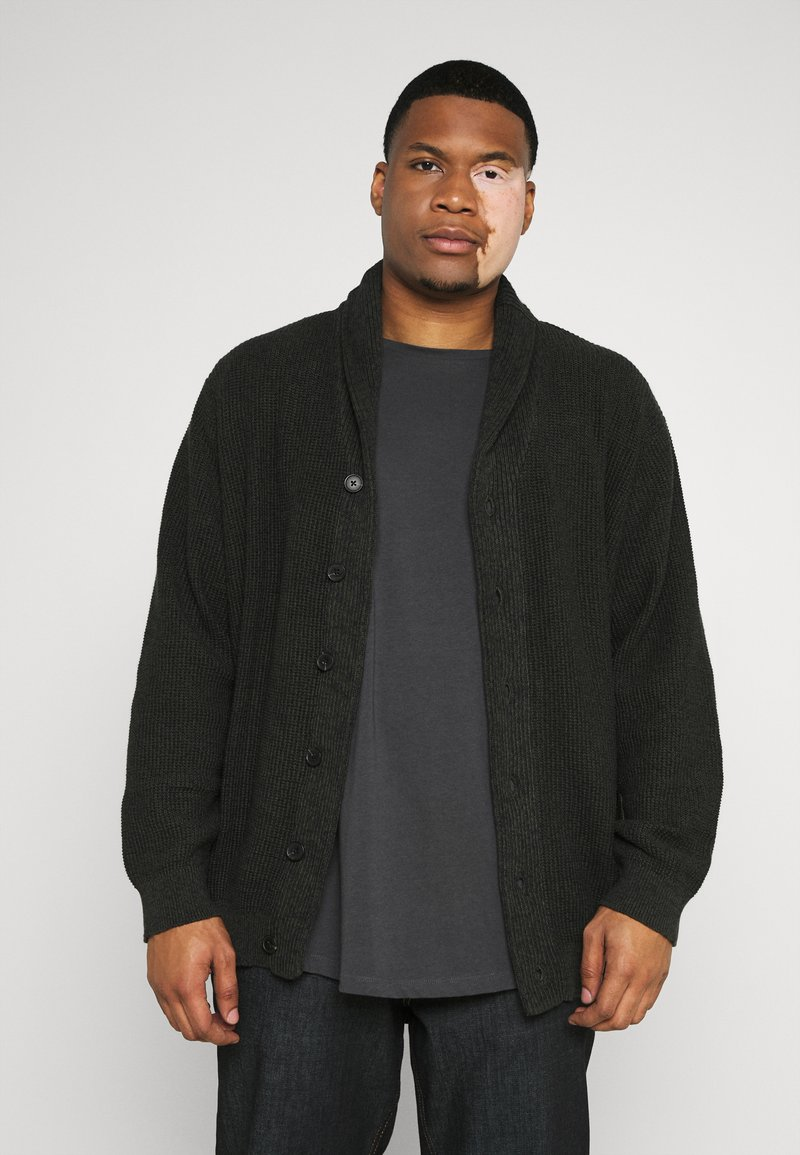 Jack & Jones - JJVINCE CARDIGAN - Cardigan - forest night