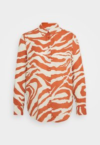 Monki - ASSA BLOUSE - Button-down blouse - orange - 4