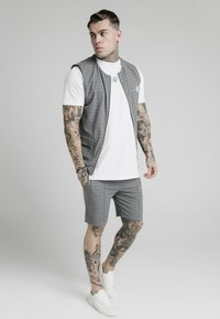 SIKSILK - Chaleco - black  white - 1